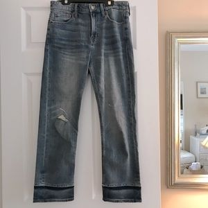 Lucky Brand Straight Leg Cropped Jeans